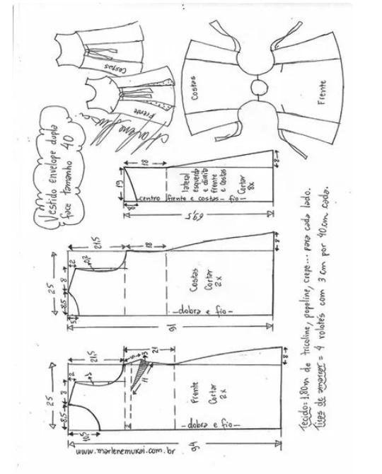 Выкройка летнего комбинезона и платья