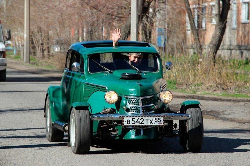 Омич собрал из старого «Москвича» гоночный автомобиль авто, автомобили, кастомайзинг, москвич, самоделка, своими руками, хот-род