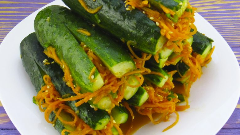 «Огурцы по-корейски» - закуска, которая покоряет сразу! вкусно,кулинария,огурцы маринованные,рецепты