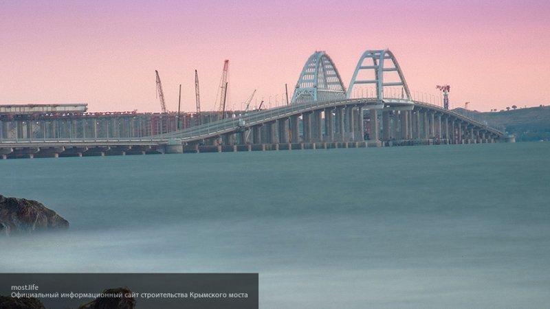 Военные украинские корабли прошли под арками Крымского моста