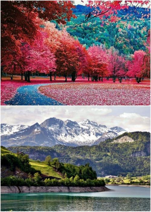 Ради такой красоты и свежего воздуха можно пойти на некоторые неудобства (Альбинен, Швейцария). | Фото: lifter.com.ua.