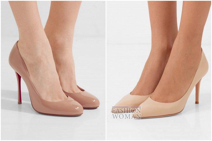 Бежевые туфли на каблуке - must have гардероба фото №8