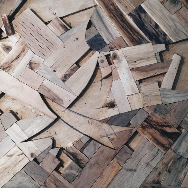 """Материалом для """"деревца"""" послужили: лиственница, клен, береза, сосна, вишня, американская вишня, груша, дуб искусство, креатив, необычные проекты"""