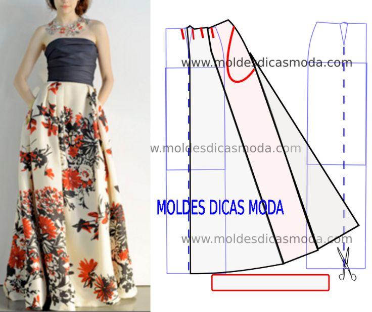 Простой крой расклешенной юбки одежда,рукоделие,своими руками,юбка