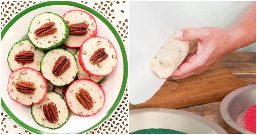 Тающее во рту сливочное печенье с орешками к новогоднему столу