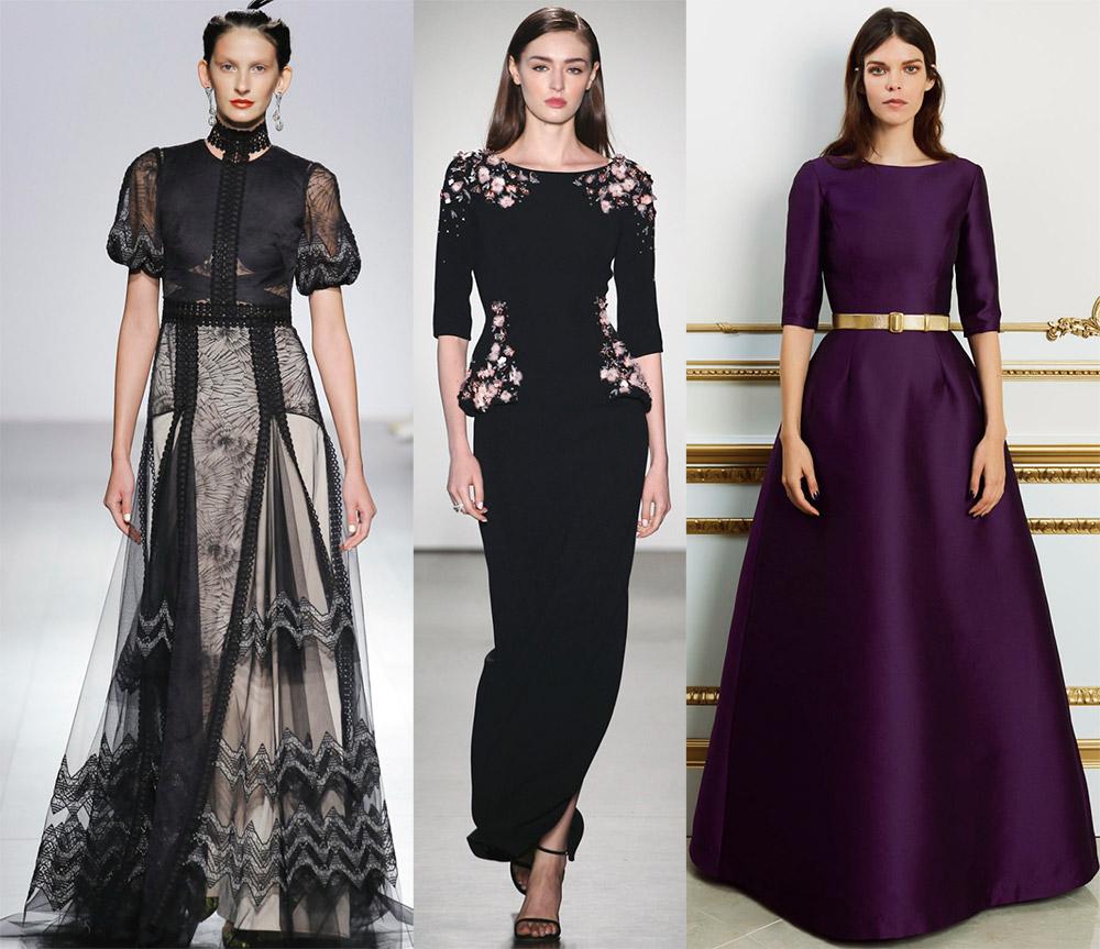 Скромные вечерние платья