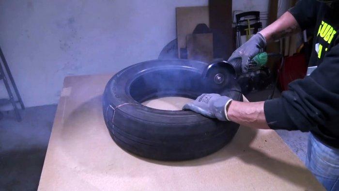 Делаем настенный компактный тренажер для бокса из покрышки мастер-класс,сделай сам,тренажер