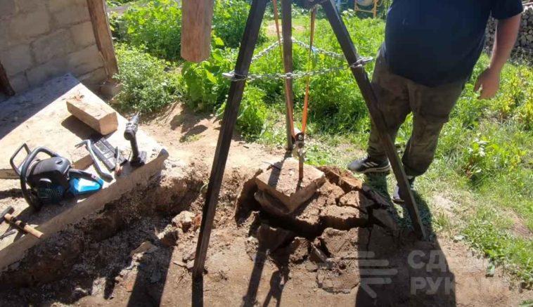Приспособление для вытаскивания столбиков из земли