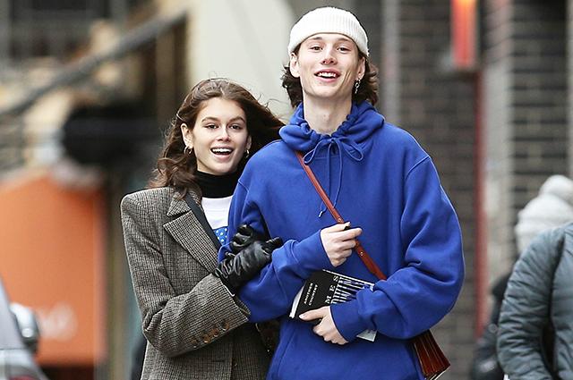 Кайя Гербер на свидании с новым бойфрендом в Нью-Йорке