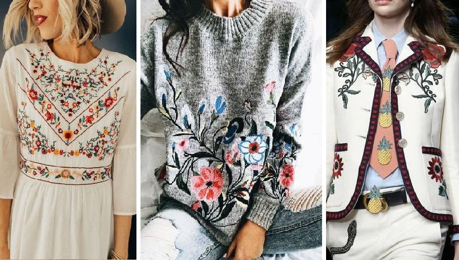 Яркая деталь образа: одежда с цветной вышивкой