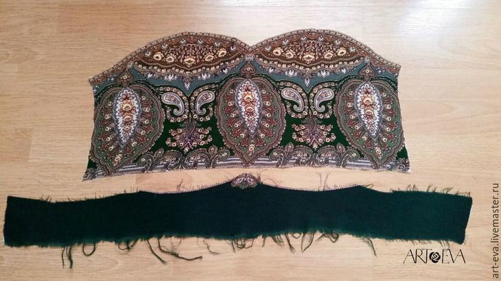 Шьем обновку — платье-тунику с отделкой из павловопосадского платка Одежда