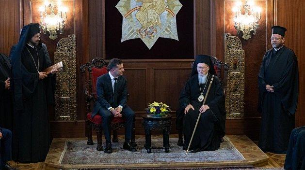 Зеленский устроил демарш на встрече с патриархом Варфоломеем — СМИ