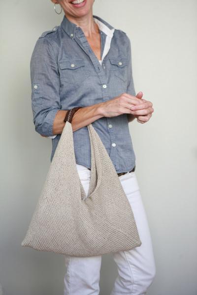 Простая сумка спицами. Мастер-класс