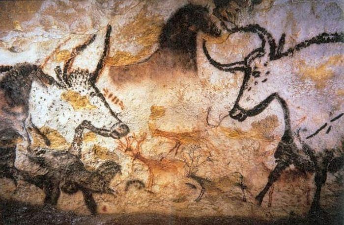 «Зал быков» в пещере Ласко.