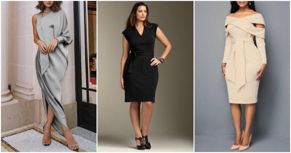 Элегантные платья, скрывающие недостатки фигуры: 30 чудесных идей