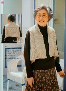 Интересная накидка для бабули из японского журнала