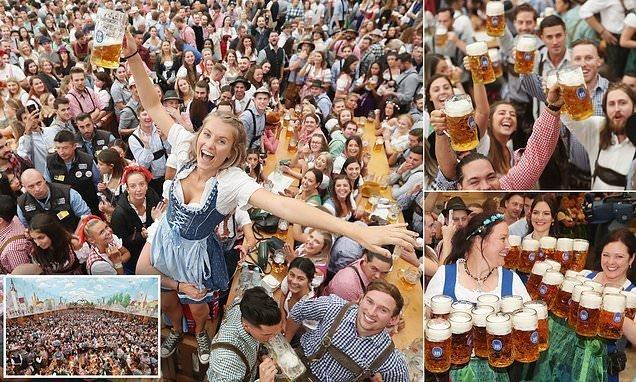 """В Мюнхене открылся """"Октоберфест"""" ynews, бавария, гуляния, мюнхен, октоберфест, октоберфест 2018, пивной фестиваль, пиво"""