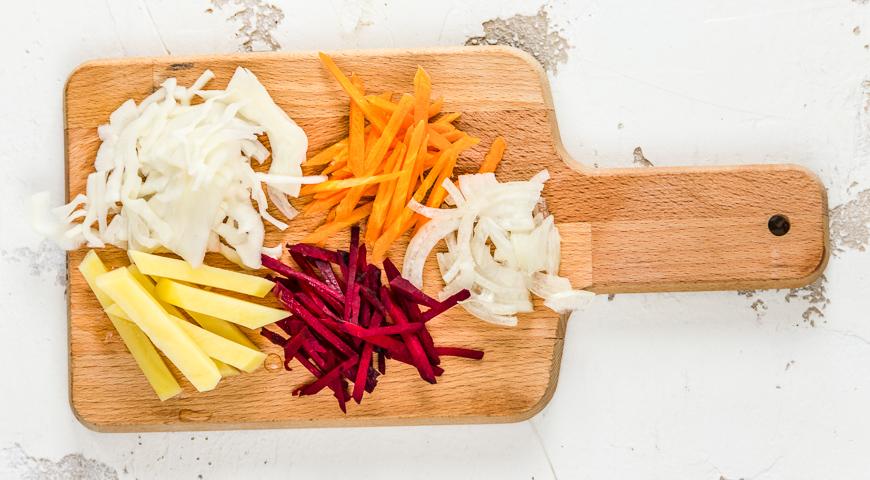 Постный борщ, классический рецепт готовим дома,кулинария,рецепты