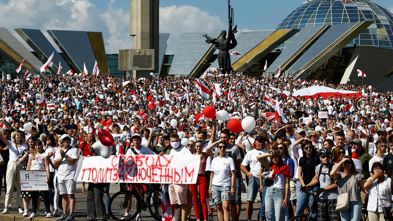 На митинге против Лукашенко в Минске собрались около 200 тысяч человек Политика