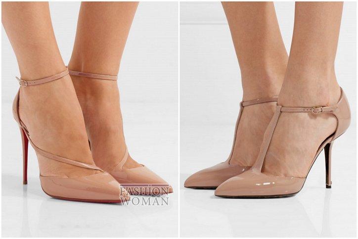 Бежевые туфли на каблуке - must have гардероба фото №11
