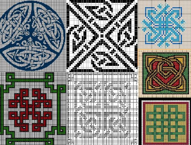 Кельтские схемы для вышивки крестом