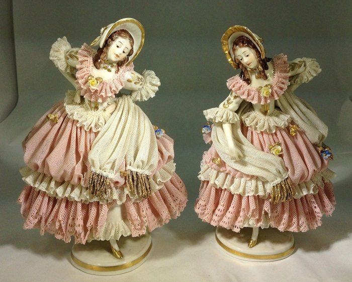 Rare Twin Dresden Germany «Dancing Ladies»
