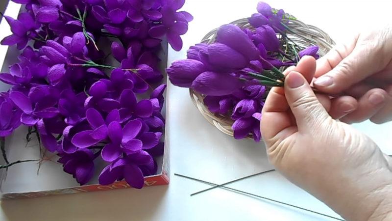 Огромная сирень из бумаги — декор, который впечатляет проволоке, сирени, листья, цветков, вытягиваем, пальцами, гофробумаги, создания, более, бумаги, сирень, вырезаем, огромную, количество, сделать, тейплентой, ветки, раскрытые, объёмной, зелёной