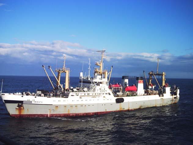На траулере в Охотском море …