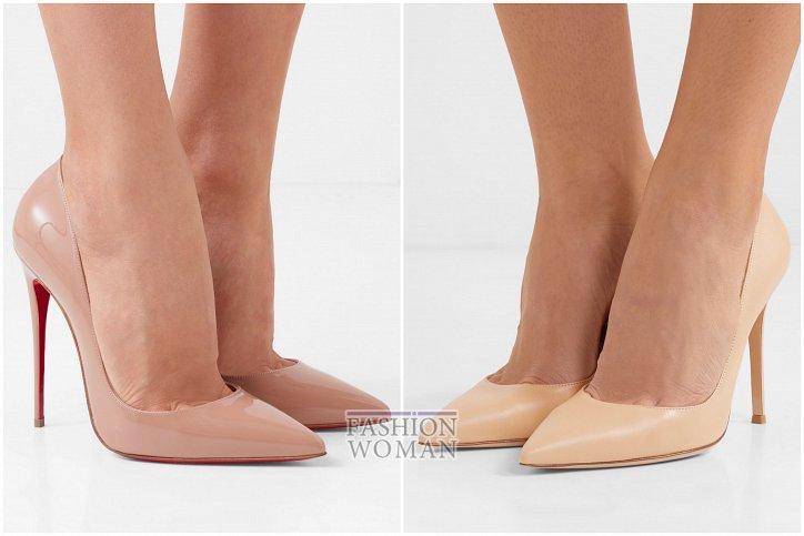 Бежевые туфли на каблуке - must have гардероба фото №7