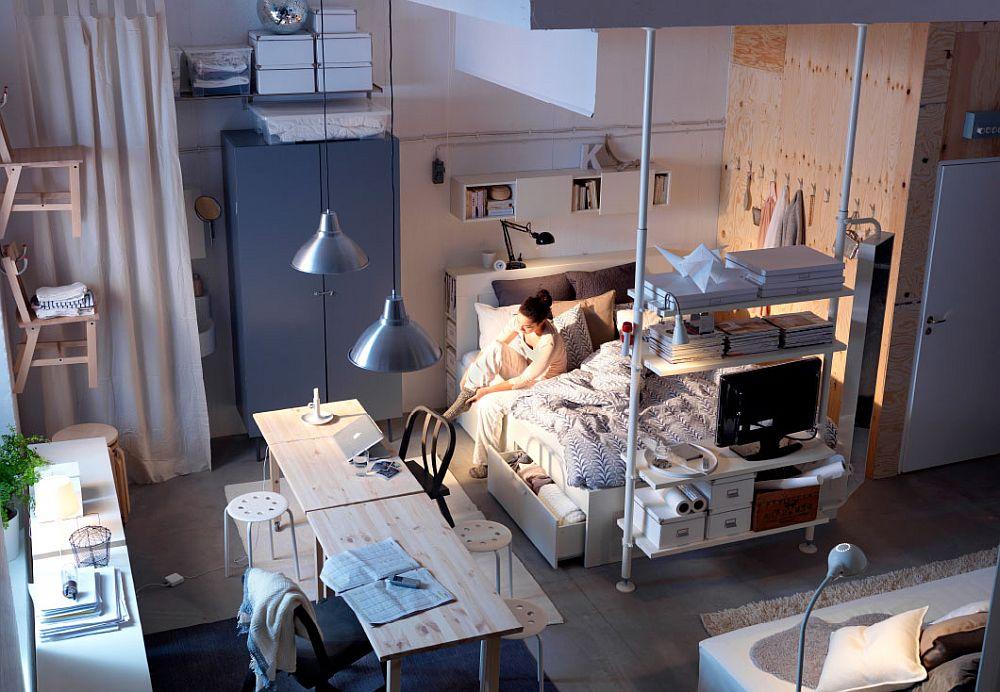 Дизайнерский интерьер спальни в скандинавском стиле