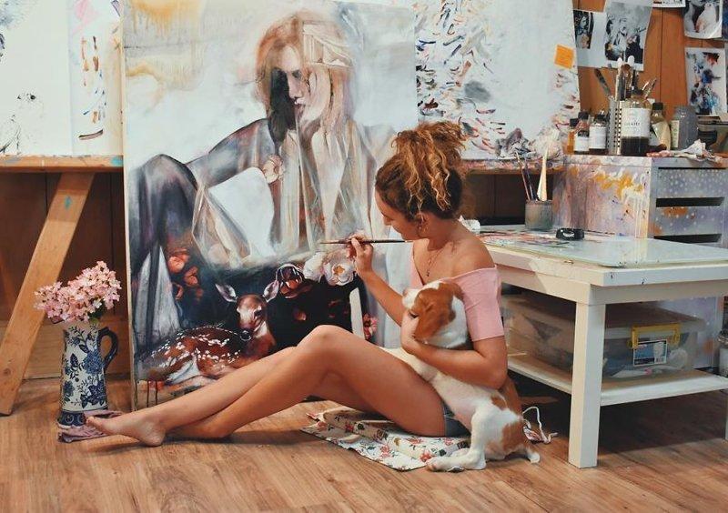 18-летняя Димитра Милан поразила мир своими картинами