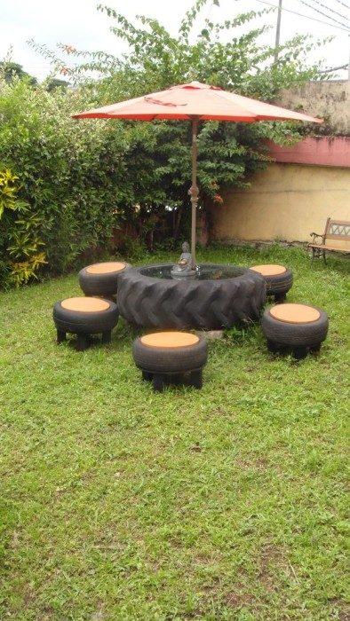 Способы использования старых шин