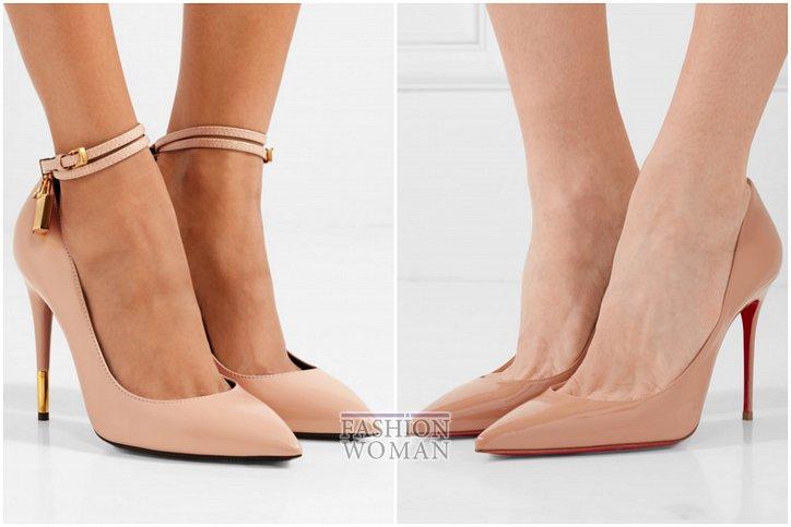 Бежевые туфли на каблуке - must have гардероба фото №12
