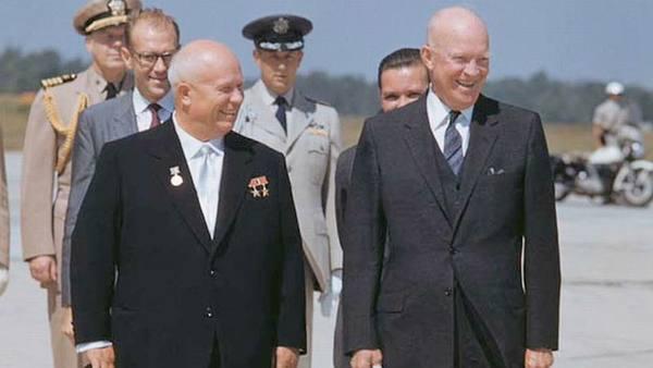 Эйзенхауэру и Хрущев о чем они говорили?