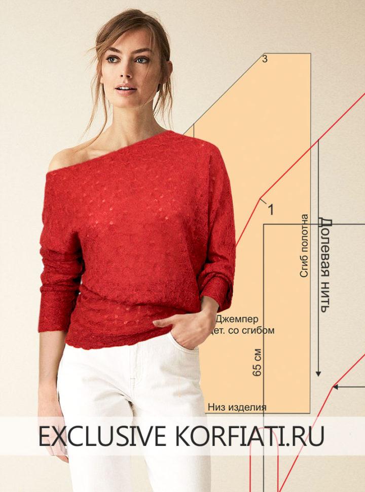 Яркая идея: шьем асимметричный джемпер по простой выкройке за час сделай сам