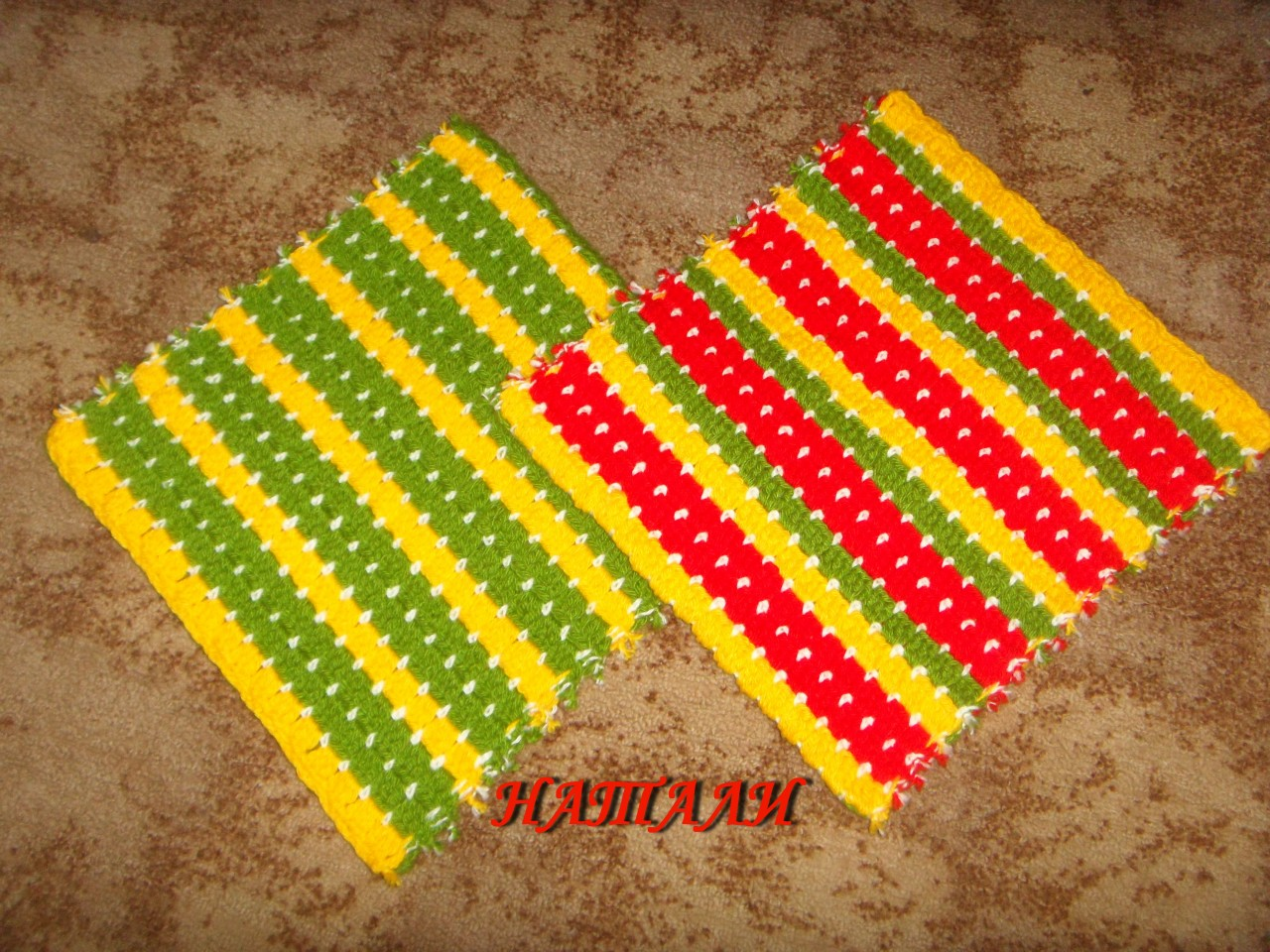 Узор для пледа - вязание крючком