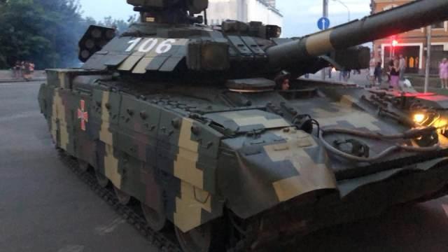 Скандальная репетиция парада в Киеве