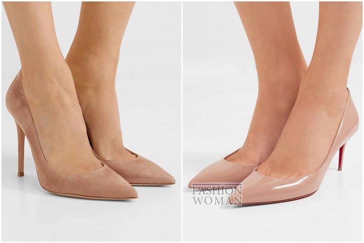 Бежевые туфли на каблуке - must have гардероба фото №10