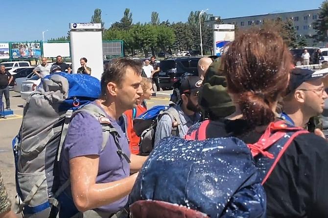Казаки Анапы рассказали  как произошла драка с Алексеем Навальным и его сотрудниками