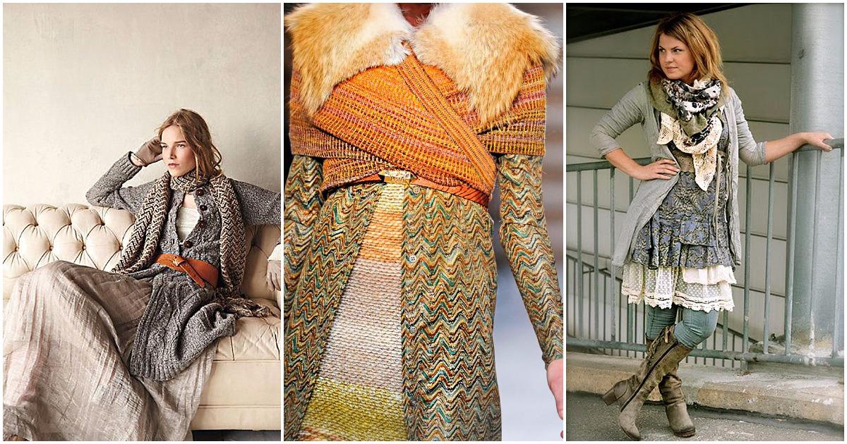 Стиль зимнего сезона: вязаное «бохо»