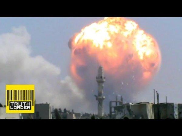 «Что эти русские себе позволяют?»: иностранцы о взрыве в Сирии, похожем на тактический атомный. Кадры