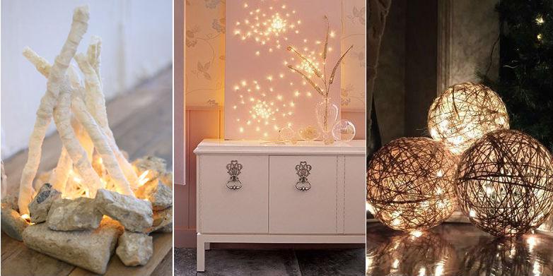 20 способов украсить дом мерцающим светом