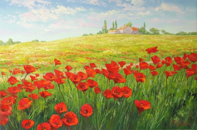 Пейзажи художника Михаила Бровкина живопись