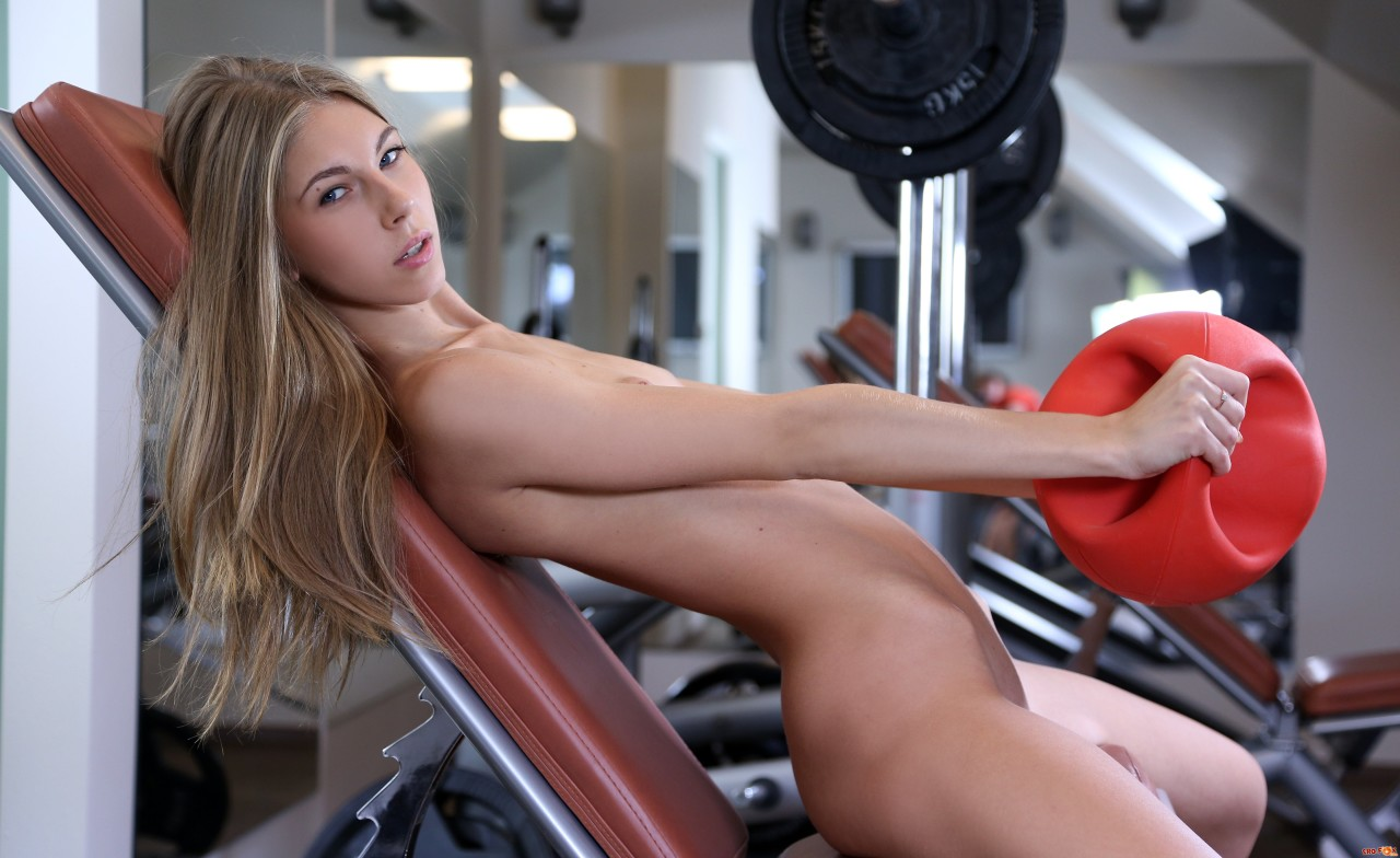Sexy fitness babes get cumed