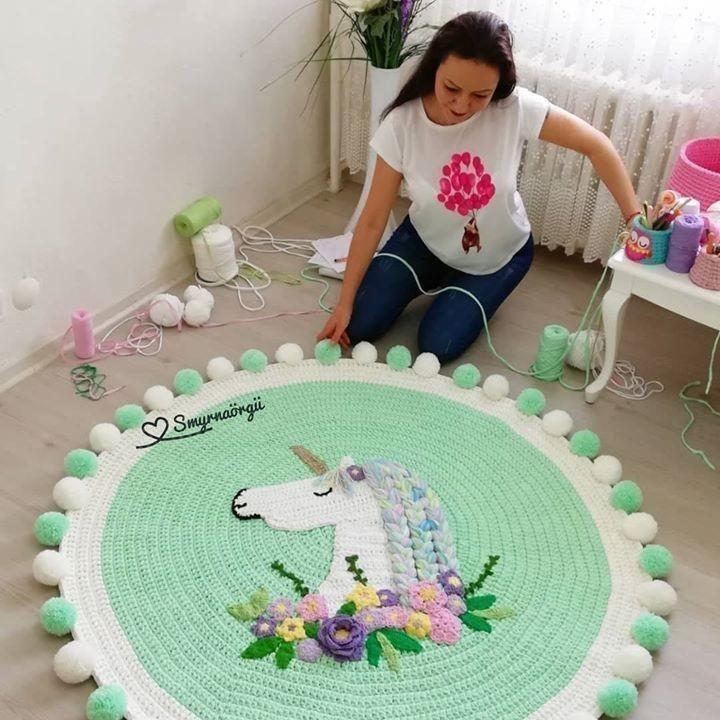 Посмотрите какие коврики создает мастерица Aylin Temizkan!