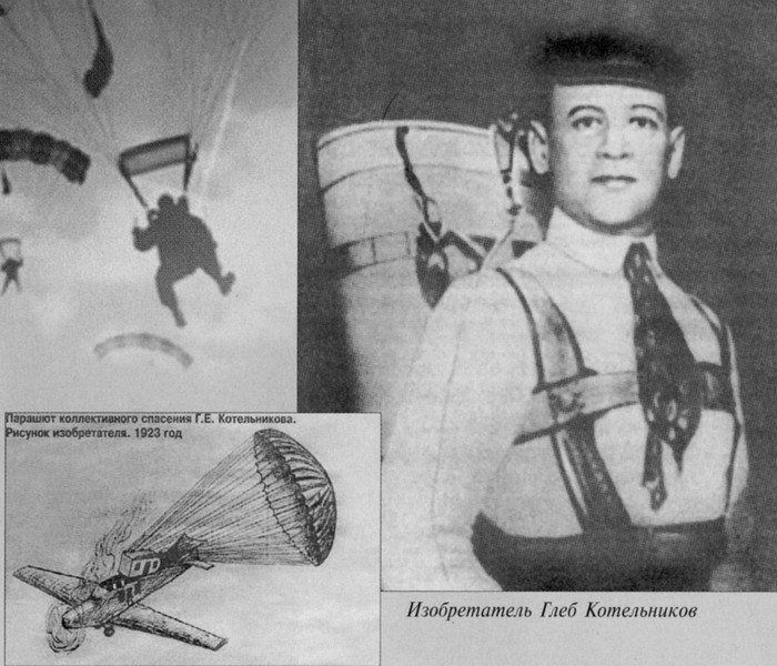 Изобретение парашюта