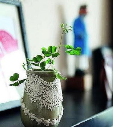 dekor vazy kruzhevom