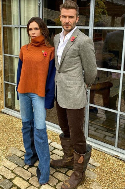 Виктория Бекхэм подшутила над модным выбором супруга. Дэвид Бекхэм пообещал отомстить Звездные пары