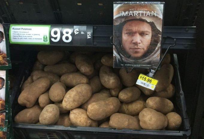 Вот как надо продавать картоху интересное, креативность, продукты, реклама, супермаркет, фото, юмор