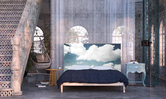 Облака в интерьере - эксперименты с изголовьем